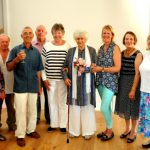 Celebrating the opening of the New Ashurst Village Hall - Dame Joan Plowright and the hall committee July 3rd 2015.