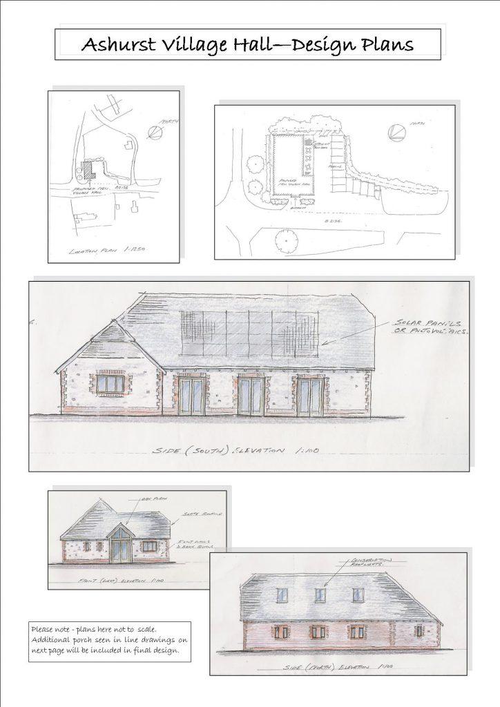 Ashurst Hall design plans